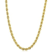 """14K Yellow Gold Filled Solid Rope Chain Necklace, 3.2mm, 20"""""""