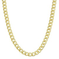 """14K Yellow Gold Filled Solid Curb Chain Necklace, 3.6mm, 24"""""""