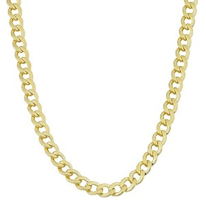 """14K Yellow Gold Filled Solid Curb Chain Necklace, 3.6mm, 18"""""""