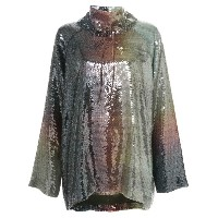 By. Bonnie Young - sequinned oversized sweater - women - シルク/ポリエステル - S