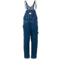 Tommy Jeans - relaxed denim dungarees - women - コットン - 27