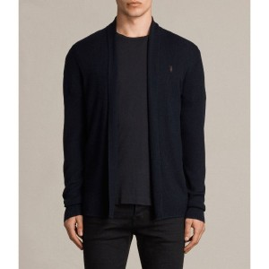 MODE MERINO OPEN CARDIGAN(INK NAVY)