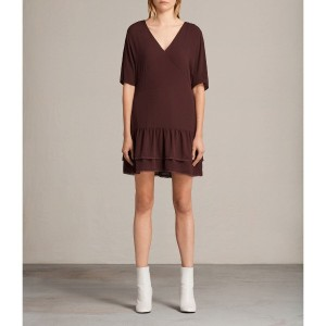 【SALE 50%OFF】MARLEY DRESS (BORDEAUX RED)