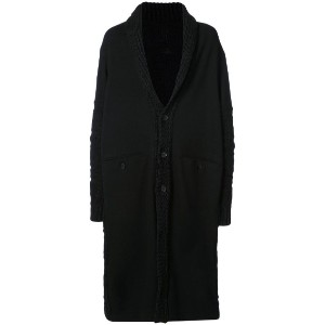 Yohji Yamamoto - single breasted coat - men - ナイロン/ウール - 3