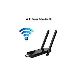 COOSA Wi - Fi Range ExtenderワイヤレスWiFiリピータ/ルータ/ AP / 2.4GHz 300Mpbs with 2つ高効率アンテナ L EL0584