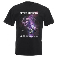 Space Octopus Kids Tシャツ