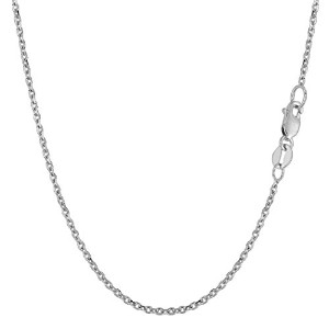 """14k White Gold Cable Link Chain Necklace, 1.5mm, 20"""""""