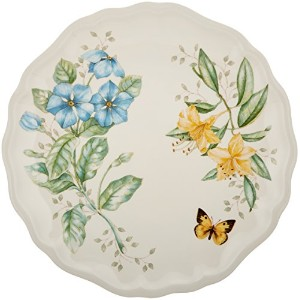 Lenox Butterfly Meadow Melamine Dinner Plate, White by Lenox