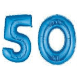 Grabo Giant 50th Blue Number Balloons by Grabo [並行輸入品]