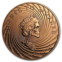 Democide 1 oz .999 Pure Copper Challenge Coin