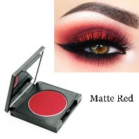 Matte Red Eyeshadow Easy To Wear Makeup Eye Shadow Cosplay Stage Makeup