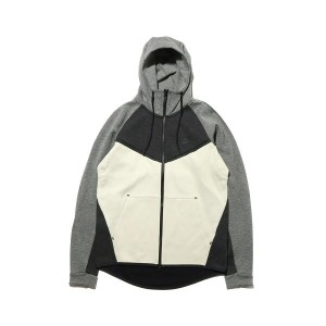 NIKE AS M NSW TCH FLC WR HODDIE cb(ナイキ テック フリース ウィンドランナー cb フーディ)BLACK HEATHER/LIGHT BONE/CARBON...
