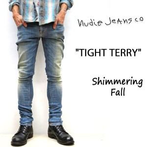 2017FW☆ NUDIE JEANS ( ヌーディージーンズ )スキニーフィット TIGHT TERRY [ SHIMMERING FALL ] (808) / タイトテリー 46161-1134...