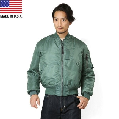 【20%OFFクーポン対象】GREENBRIER IND.INC グリーンブライヤー社 MADE IN USA MA-1 フライトジャケット SAGE《WIP》メンズ アウター ミリタリー