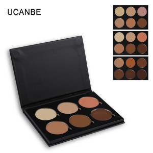 UCANBE Cosmetic Face 6 Colors Contour Cream Makeup Camouflage Foundation
