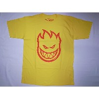 SPITFIRE スピットファイア BIG HEAD ビッグヘッド ロゴ Tシャツ 黄x赤 イエローxレッド YELLOW/RED