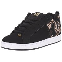DC Womens Court Graffik SE Skate Shoe  Black/Tan  7.5 M US