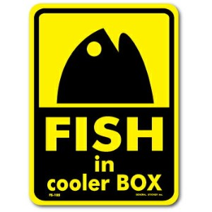 FS-185/FISHINGステッカー/FISH in cooler BOX-01