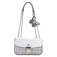 (ゲス) GUESS CONVERTIBLE CROSSBODY FLAP ショルダーバッグ #WM668621 WML WHITE MULTI 並行輸入品