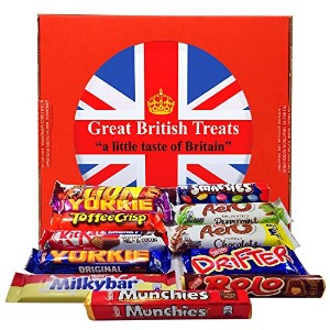英国 ネスレチョコレート 12種 ギフトボックス British Foods Worldwide Nestlé Gift Box | 12 British Chocolate Bars:...