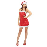 Bristol Novelty Red/White Miss Santa Sexy S Adult Costume - Women's - Small