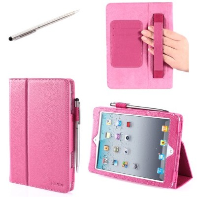 i-BLASON Apple iPad Mini 7.9 Inch Auto Wake / Sleep Smart Cover Leather Case, Pink Margentta - 並行輸入品