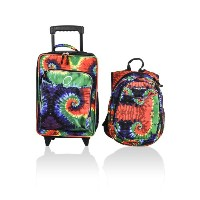 Obersee Kids Luggage and Backpack Set with Integrated Cooler, Tie Dye by Obersee