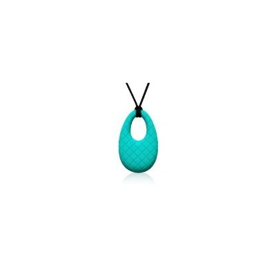 Siliconies Egg Pendant - Silicone Necklace (Teething/Nursing/Sensory) (Peacock - Teal) by Family...
