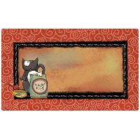 Drymate 12 by 20-Inch Cat Bowl with Place Mat in Hungry Kitty Design by Drymate