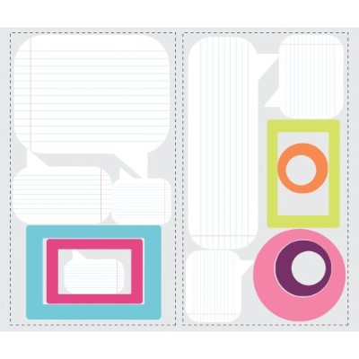 RoomMates RMK2016SCS Notepad Dry Erase Peel and Stick Wall Decal, Pink/Blue/Green [並行輸入品]