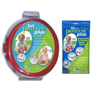 Potette Plus Travel Potty includes EXTRA Liners, Red by Kalencom