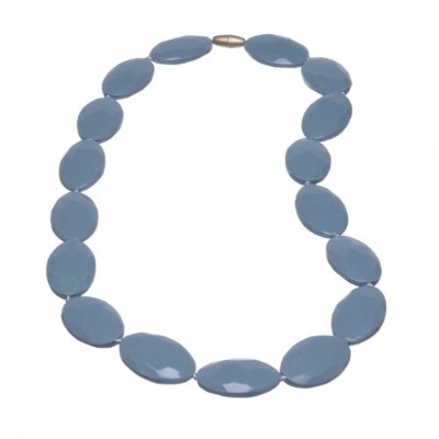 Jelly Strands Hampton Baby Teething Necklace Smoke by Jelly Strands