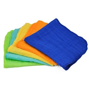 green sprouts Muslin Face Cloths made from Organic Cotton,Blue Set by green sprouts