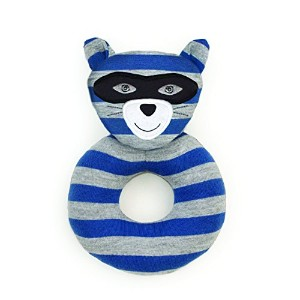 Organic Farm Buddies, Robbie Raccoon Teething Rattle by Organic Farm Buddies