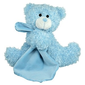 Stephan Baby Super Soft Plush Blankie Buddy Security Blanket, Blue Bear by Stephan Baby