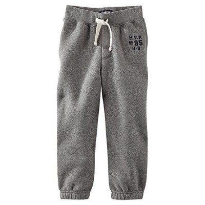 OshKosh B'gosh MVP Vintage Fleece Pants Baby Boys (6 Months, Grey) by OshKosh B'Gosh