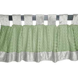 Baby Doll Bedding Croco Minky Window Valance, Ivory/Sage by BabyDoll Bedding