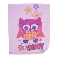 Clever Birds Baby Blanket, Rose, 30 x 40 by Clever Birds