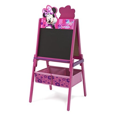 Delta Children Disney Wooden Double Sided Easel With Storage, Disney Minnie Mouse by Delta Children