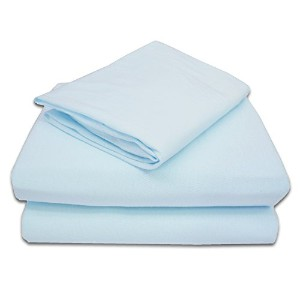 American Baby Company 100% Cotton Jersey Knit Toddler Sheet Set, Blue by American Baby Company
