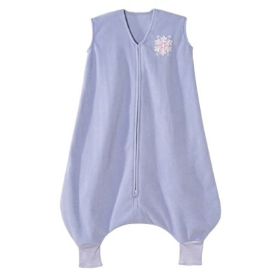 HALO Big Kids Sleepsack Micro Fleece Wearable Blanket, Lilac Snowflake, 2-3T by Halo