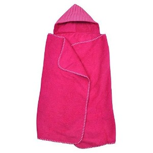 green sprouts by i play. Brights Organic Terry Hooded Towel - Fuchsia by i play.