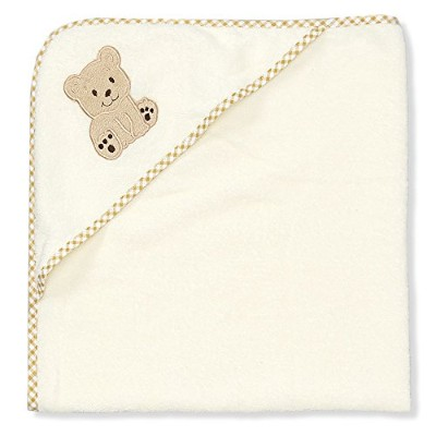 Spasilk 100% Cotton Hooded Terry Bath Towel, Beige Bear by Spasilk