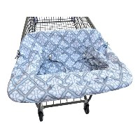 Jj Cole Shopping Cart Cover Blue Iris by JJ Cole