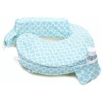 My Best Friend Nursing Pillow Deluxe Slipcover, Flower Key, Sky Blue, White by My Brest Friend