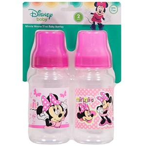Minnie Mouse 2-Pack, 11oz Baby Bottles by Disney