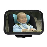 Greenco Rear Facing Crystal Clear Back Seat Baby View Mirror, Large by Greenco