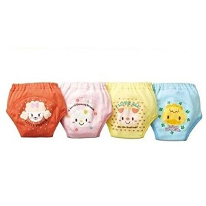 Collager Baby Toddler Girls Cute 4 Layers Potty Training Pants Reusable Underwear 4 Pcs (90, Girl)...