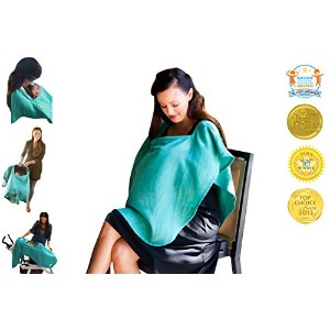 Poncho Baby Organic Nursing Cover, Oval Emerald Green, Emerald by Poncho Baby