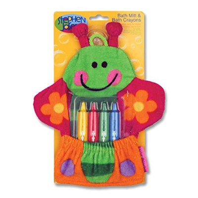Stephen Joseph Bath Mitt and Crayons Butterfly, Multi by Stephen Joseph